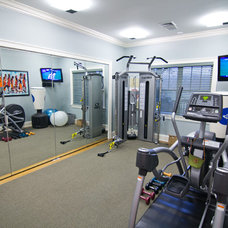 Contemporary Home Gym by Dave Tilly & Associates LLC