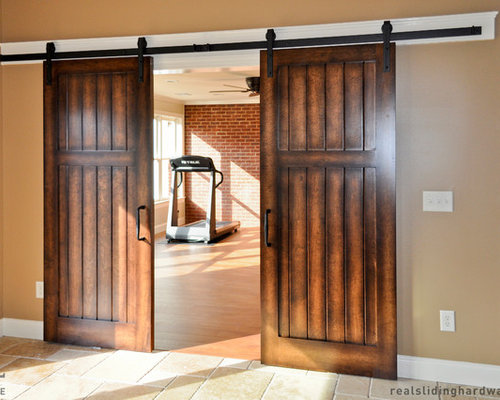 Cat door french home gym design ideas renovations