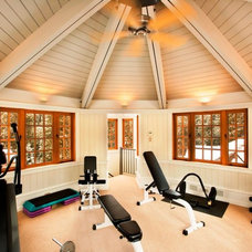 Contemporary Home Gym by CWI Design Group