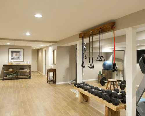 Industrial home gym design ideas pictures remodel decor