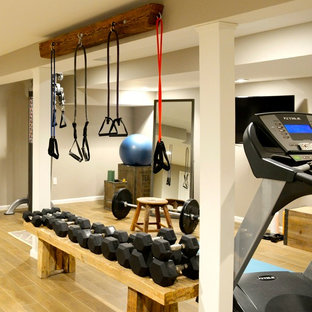 Urban home gym in New York.