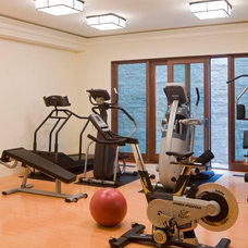 Transitional Home Gym by Forum Phi - Architecture   Interiors   Planning