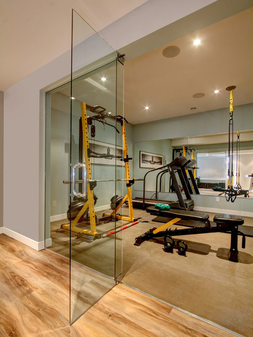 Home Gym Design: Contemporary Home Gym Design Ideas, Pictures, Remodel & Decor