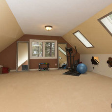Traditional Home Gym by HG3D - 3D Home and Garden Rendering