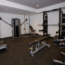 Traditional Home Gym by Iron Mountain Remodeling