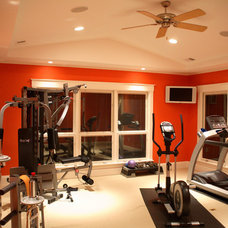 Contemporary Home Gym by Prendergast Construction Company, INC