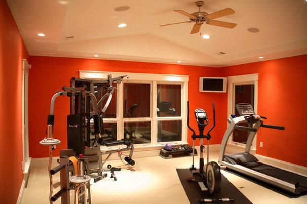 Contemporary Home Gym by Prendergast Construction Company, INC
