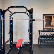 modern home gym by Sunscape Homes, Inc