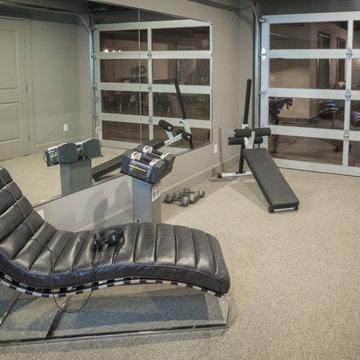 Home Gym with Garage Door