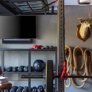 Неиссякаемый источник вдохновения для домашнего уюта: домашний тренажерный зал в стиле кантри