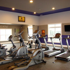 Eclectic Home Gym by Helen Piteo Interiors, LLC