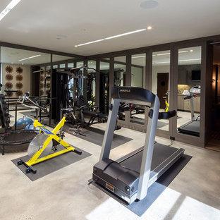 Most popular contemporary home gym design ideas for