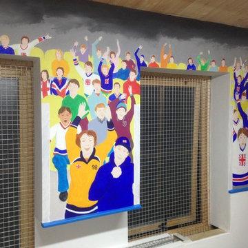 Ice Hockey Mural