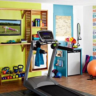 Eklektischer Fitnessraum in Charlotte