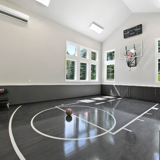Photo of a home gym in Minneapolis.