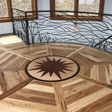 Inlaid Floor Pattern in Doggett Peak Whole House Renovation