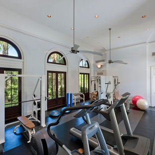 Interior Architecture of Classically Inspired Miami Indian Creek Home – Gym