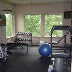 Bayside Custom Contemporary Home Gym Orange County