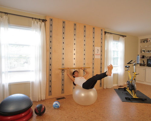 Example Of A Minimalist Home Gym Design In Cleveland