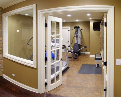 Chicago home gym design ideas pictures remodel decor