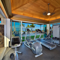 Tropical Home Gym by Armstrong Builders LLC