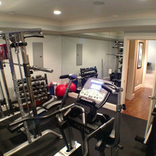 Traditional Home Gym by The Southern Basement Company