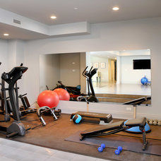 Contemporary Home Gym by Foster Design Build LLC