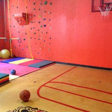 Kids playroom/rock climbing wall