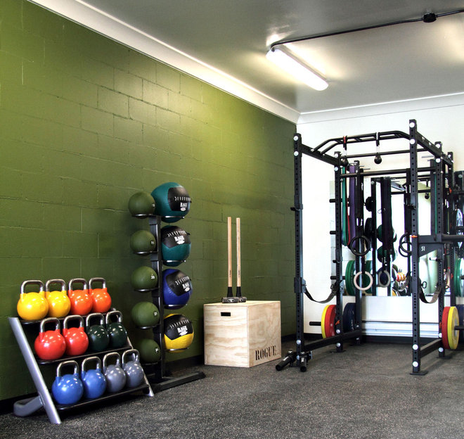 Contemporary Home Gym by Capstone Dwellings, Design-Build