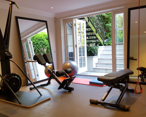 75 Home Gym Design Ideas - Stylish Home Gym Remodeling Pictures   Houzz