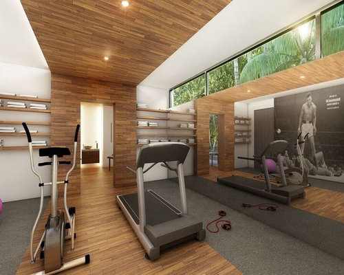 salle de sport exotique de luxe photos et id es d co de salles de sport. Black Bedroom Furniture Sets. Home Design Ideas