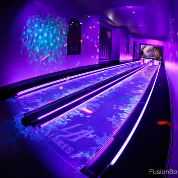 """LA Lanes"" custom home bowling alley"