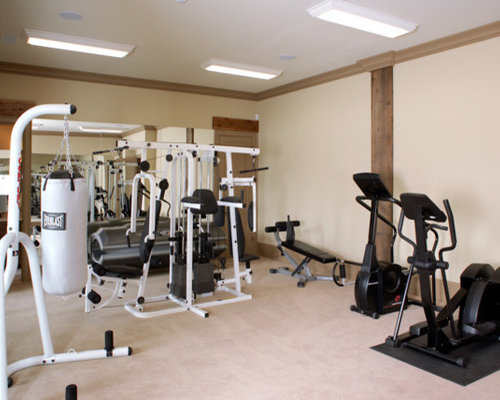 Rustic atlanta home gym design ideas pictures remodel