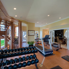 Eclectic Home Gym by Andrew Roby General Contractors