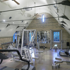 Traditional Home Gym by Burns and Beyerl Architects