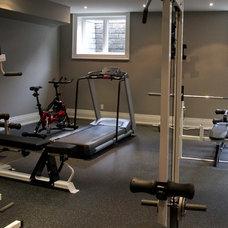 Traditional Home Gym by Home Concepts Canada Interior Design Inc.