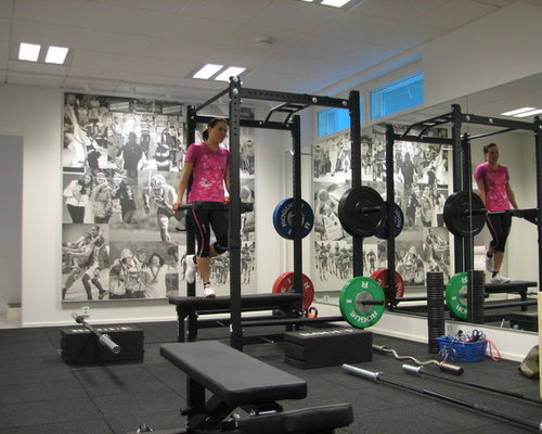 Houzz modern home gym design ideas remodel pictures