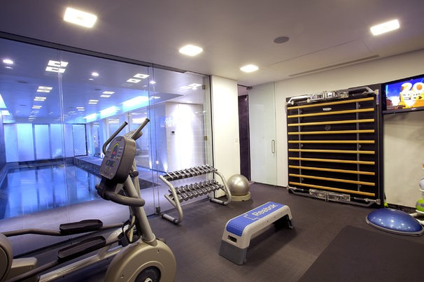 Modern Home Gym by Olive Audio Visual