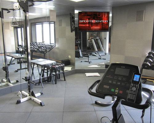 Fitnessraum mit linoleum ideen f r ihr home gym for Boden fitnessraum