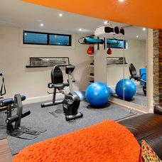 Contemporary Home Gym by Luxurious Living Studio Inc.