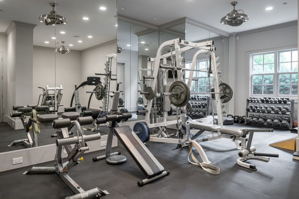 Transitional Home Gym by KDB Design Group