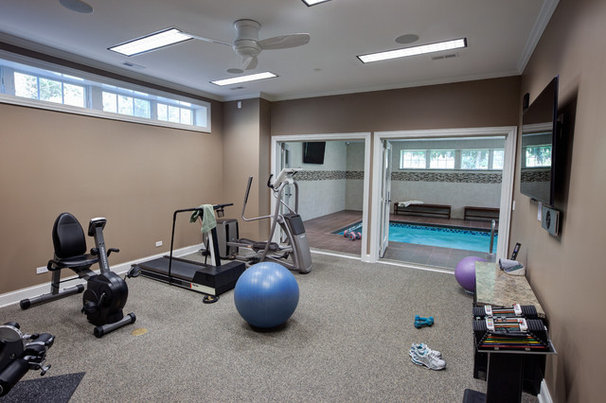 Traditional Home Gym by Airoom Architects-Builders-Remodelers