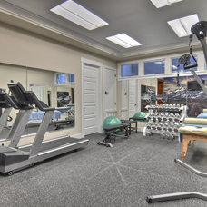 home gym by LuAnn Development, Inc.