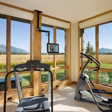 Traditional Home Gym by Teton Heritage Builders