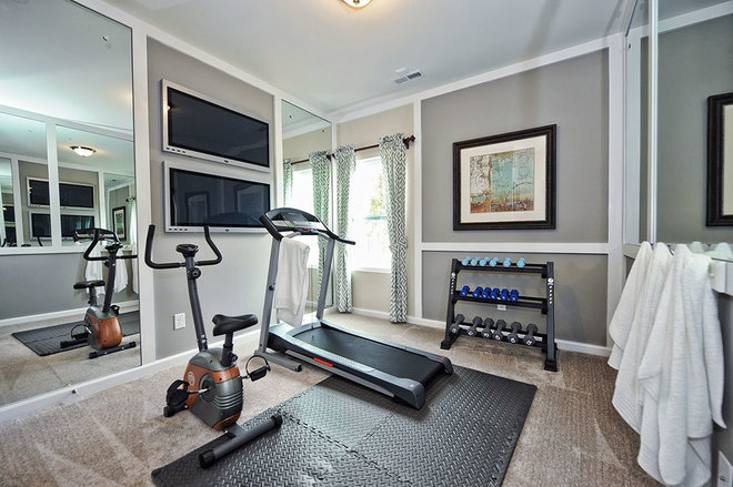 Transitional Home Gym by M/I Homes