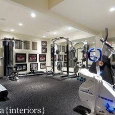 Contemporary Home Gym by Veranda Estate Homes & Interiors