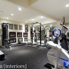 contemporary home gym by Veranda Estate Homes & Interiors