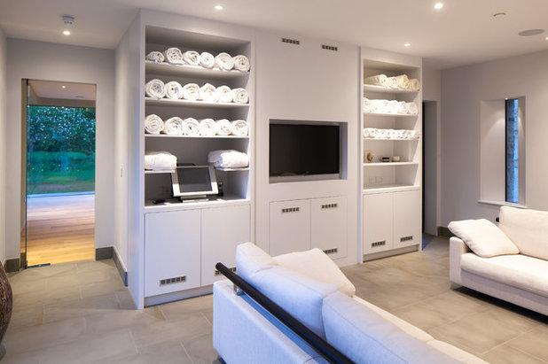 Fitnessraum modern  Träumen erlaubt: Privates Fitness-Studio für ein englisches Herrenhaus
