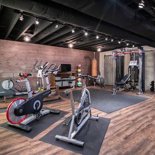 Maple Basement Remodel + Home Gym--Medfield, Massachusetts