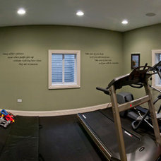 Contemporary Home Gym by Sebring Services